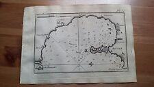 """1817 Allezard: Portolano Carta Nautica Baia Porto di Augusta """"Agusta"""" (Sicilia)"""