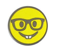 Nerd Smile Emoji Enamel Lapel Pin