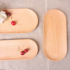 Wooden Fruit Vegetable Dish Tvray Bowl Kitchenware Storage Holder 10inch