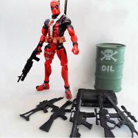 "5PCS Guns Accessories Marval 6"" Deathstroke & Deadpool Figure Action Weapon Pack"