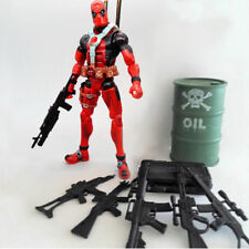 "5PCS Guns Accessories Marval 6"" Deathstroke & Deadpool Figure Action Weapon Pack"