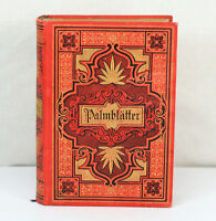 ILLUSTRATED HARDCOVER MINI BOOK ANTIQUE 1893 GERMAN PALMBLATTER BY KARL GEROK