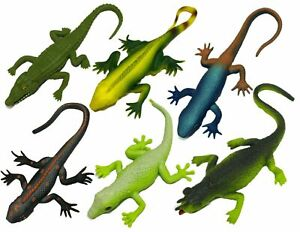 20cm Gross Stretchy Lizards Novelty Gag Toys Party Bag Fillers Kids Toy Prank