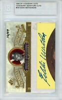 Autographed Eddie Mathews Milwaukee Braves Baseball Slabbed Card Item#11014798