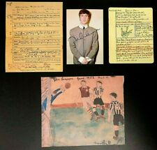 AMAZING LOT!-JOHN LENNON*GRADE SCHOOL REPORT CARD*1952 ART PROJECT-DAILY HOWL 1D