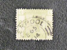 TIMBRES D'ANGLETERRE ( UK ) : 1883/84 N° 83 YVERT 6 P. VERT Oblitéré - TBE