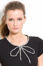 Kate Spade Gail Black Rhinestone Bow Embellished NWT Dress Sz 4