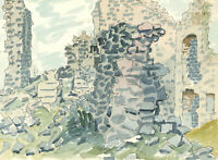 Ernest Fedarb NS (1905-2005) - Mid 20th Century Watercolour, Ruins
