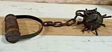 Vintage Handmade Mace Spike Ball Chain Nails Medieval Primitive Rare Display (G)