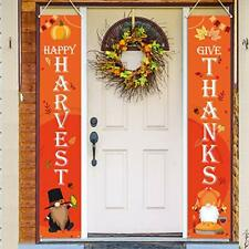 Thanksgiving Decorations Outdoor - Hanging Fall Autumn Thanksgiving Banners - G