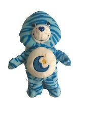 """2005 Bedtime Bear Care Bears Jungle Party Special Edition 7.5"""" Tall Blue Moon"""