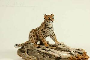 OOAK  Handmade ~ Ocelot ~ Miniature Dollhouse Sculpture