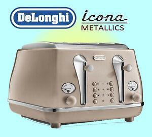 Delonghi Icona Metallics 4 Slice Toaster - CTOT4003.BG
