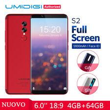 6'' UMIDIGI S2 4GB/64GB OCTA-CORE 4G TELEFONO Helio P20 5100MAH SMARTPHONE 2SIM