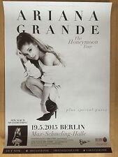 ARIANE GRANDE 2015 BERLIN - orig.Concert Poster - Konzert Plakat  NEU