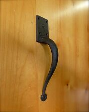 "1 CRAFTSMAN STYLE 10"" HEAVY DUTY RUSTIC GATE BARN DOOR HANDLE PULL CAST IRON"