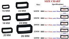 Rubber PVC Black Watch Strap Buckle Band Keeper Hoop Loop Holder Retainer Ring