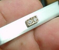 Vintage silver tone sophisticated 2 diamond Swank So Tie clasp bar clip tack two