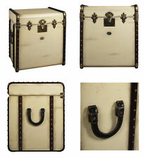 MF079 Stateroom End Table Travel Trunk Steamer Chest Authentic Models NEW