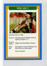 (Jm829-100) RARE,Q.O.S Who Am I ,Shaun Edwards ,Rugby 1994 MINT
