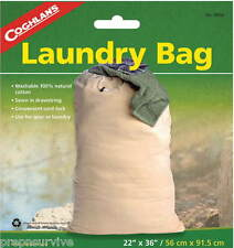 "LAUNDRY BAG-22""X36"", WASHABLE 100% NATURAL COTTON, DRAWSTRING, CORD LOCK, GEAR"