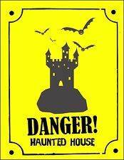 Haunted House Danger Spooky Fun Sticker Decal Graphic Vinyl Label