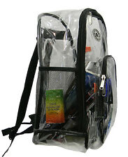 Heavy Duty Clear Backpack Transparent Bookbag See Through Travel Daypack - LM213