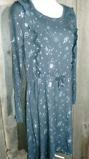ART CLASS BRAND GIRLS XL 14-16 CHARCOAL DRESS WITH SILVER STARS NWT