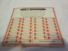 Punchcard Punch Board Flor De Leon Cigars Advertising Vintage Trade Simulator
