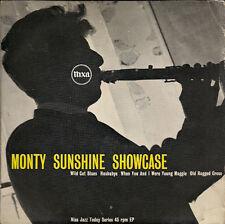 """The Monty Sunshine Trio /Quartet Showcase UK 45 7"""" sgl +Pic Slv +Wild Cat Blues"""