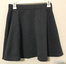 Mossimo, Women Gray Quilted Geometric Designs, A-Line Skirt W/ Elastic Waist, Sm