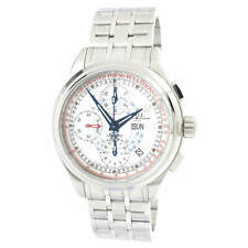 Ball Men's Watch Trainmaster Chronograph White Dial Bracelet CM1010D-SJ-WH