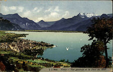 Vevey Kanton Waadt alte Ansichtskarte 1929 Vue générale et la Dent du Midi See