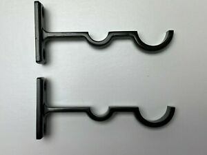 Restoration Hardware Curtain Drapery Rod Bronze Conversion Double Rod Brackets