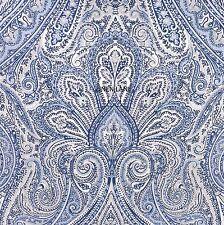 RALPH LAUREN Floral QUEEN DUVET COVER SET COTTON NWT Navy Blue Grey White FLORAL