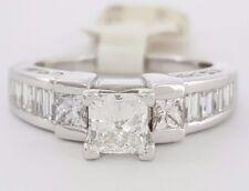1.90 ct 14K White Gold Princess Cut Diamond Engagement Ring UGS Rtl $6,800