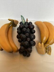 Faux Banana Bunches and Grape Clusters