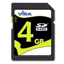 Nuovo Vida IT 4GB SD SDHC Scheda di Memoria Class 10 UHS-1 Per Nikon Coolpix P80