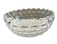 Vintage Fostoria American Large Crystal Glass Heavy Serving Bowl 8.5 Inch Round