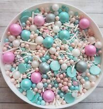 50g Aqua splash Mermaid Princess  sprinkles,edible cake/cupcake toppers.Unicorn