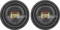 "2) New BOSS D12F 12"" 2000W RMS Car Audio Power Shallow Mount Subwoofer Package"