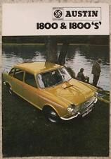 AUSTIN 1800 & 1800 S Car Sales Brochure c1970 #2719