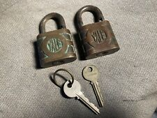 2- Vintage Yale PadLocks With Keys