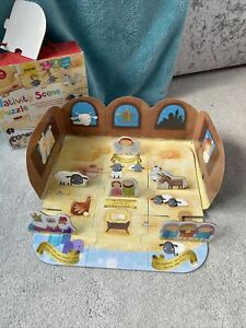 Nativity Scene Puzzle, Childrens Preschool, Stand Up Stable, 3D. M&S