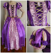 Purple Princess Fancy Dress Costume  Ladies Theme Disney  Size 8-10 Rapunzel