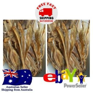 2x Ikan Asin Jambrong - Natural Dried Salted Jeprox Fish 80g Terapon Theraps