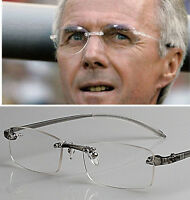 c09c9f8889926 Reading Glasses Mens Women's Rimless TR90 Eye Reader Grey +0.50~4.00 diopter
