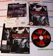 NINTENDO WII GAME ** RESIDENT EVIL THE UMBRELLA CHRONICLES **  DISC IS MINT