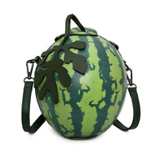 Women Small Messenger Bag Watermelon Shape Leather Purse Crossbody Shoulder Bag