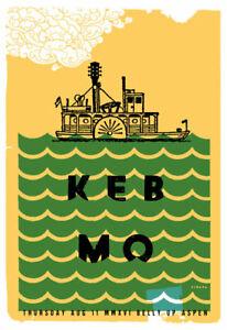 Keb Mo at The Belly Up Aspen Poster by Scrojo KebMo_1608